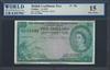 British Caribbean Territory, P-09b, 5 Dollars, 2.1.1957 Signatures: Lartigue/Waterman/Spence 15 Fine Choice