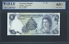 Cayman Islands, P-05a, 1 Dollar, 1974 (1985) Signatures: V.G. Johnson 63 TOP UNC Choice