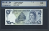 Cayman Islands, P-05d, 1 Dollar, 1974 (1985) Signatures: T.C. Jefferson 30 TOP Very Fine