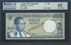 Congo Democratic Republic, P-08as, Specimen Note, 1000 Francs, 1.8.1964 Signatures: A. Mbamu 62 Uncirculated