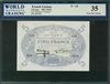 French Guiana, P-01d, 5 Francs, 1901 (1942), Signatures: Halleguen/Constantin, 35 Very Fine Choice