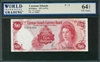 Cayman Islands, P-03, 10 Dollars, 1971 (1972), Signatures: V.G. Johnson, 64 TOP UNC Choice