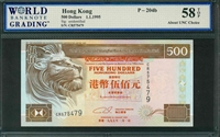 Hong Kong, P-204b, 500 Dollars, 1.1.1995, Signatures: unidentified,  58 TOP About UNC Choice