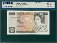 Great Britain, P-379e, 10 Pounds, ND (1988-91), Signatures: G.M. Gill,  53 TOP About UNC