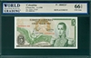 Colombia, P-406f(3)*, 5 Pesos Oro, 1.1.1980, Signatures: Quijno/Ortega,  66 TOP UNC Gem,  REPLACEMENT