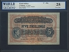 East Africa, P-28a, 5 Shillings, 1.7.1941, Signatures: Bottomley/Kershaw/Beckett, 25 Very Fine
