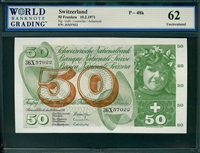 Switzerland, P-48k, 50 Franken, 10.2.1971, Signatures: Galli/Leutwiler/Aebersold, 62 Uncirculated