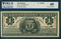 Guatemala, P-S152b, 1 Peso, 2.10.1916/1914, Signatures: three unidentified, 40 Extremely Fine