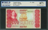 South Africa, P-122a, 50 Rand, ND (1984), Signatures: G.P.C. de Kock,  67 TOP UNC Superb Gem
