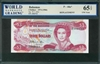 Bahamas, P-44a*, 3 Dollars, 1974 (1984), Signatures: W.C. Allen, 65 TOP UNC Gem, REPLACEMENT