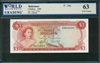 Bahamas, P-19a, 3 Dollars, 1965, Signatures: Sands/Higgs, 63 UNC Choice