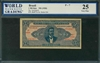 Brazil, P-007, 1 Mil Reis, ND (1920), Signatures: handsigned, 25 Very Fine