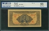 Brazil, P-009, 1 Mil Reis, ND (1923), Signatures: handsigned, 53 About UNC, COMMENT: tiny stains