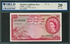 British Caribbean Territory, P-07c, 1 Dollar, 2.1.1964, Signatures: D'Andrade/Reece/Burrowes, 20 Very Fine