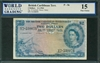 British Caribbean Territory, P-08c, 2 Dollars, 2.1.1964, Signatures: D'Andrade/Reece/Haley, 15 Fine Choice
