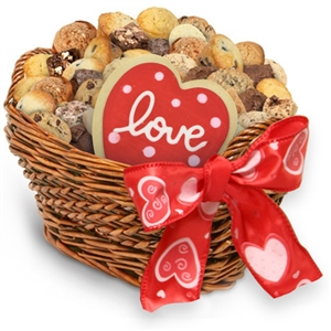 Valentine Medley of Cookies, Brownies & Muffins Gift Basket