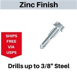 "Hex Self Drill Screw 12-24 x 7/8"" #4 Point"