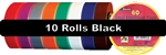 "Black Electrical Tape 3/4"" x 60' 10 Pack"