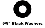 "5/8"" Black Hex Washer Pack of 25"