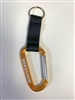 Mustangs Large Gold tone D-shape Carabiner clip with strap and key ring