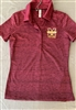 Under Armour Ladies Maroon StripedPolo