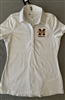 Under Armour Ladies White Striped Polo
