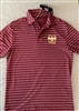 Under Armour Mens Maroon StripedPolo
