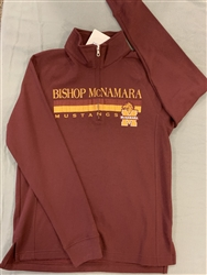 Ladies Maroon Quarter Zip Sweatshirt