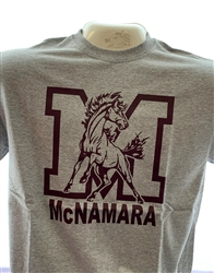 Big M with Mustang Gray T Shirt