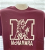 Big M with Mustang Maroon T Shirt