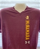 Under Armour V Neck Maroon T Shirt