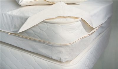 Certified Organic Cotton Bed-Bug and Dust-Mite Mattress Barrier Cover
