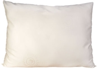 OrganicPedic Wool-Wrapped Organic Buckwheat-Hull Pillow