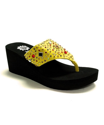 Yellowbox Lucina Flip Flop Wedge in Yellow