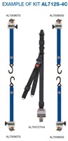 Sure Lok Titan Blue L Track Auto Locking Rectractor Kit with Occupant Restraint