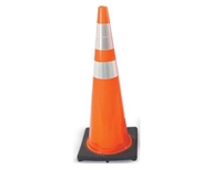 "Orange Traffic Cone with Reflective Collar, 18""/28""/36"""