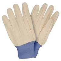 Corded Cotton Canvas Double Palm Gloves, Safety Cuff
