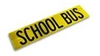 "School Bus Reflective Decal 9.25""x36"""