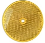"3 1/4"" Reflector in Red or Amber, screw type"