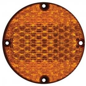 "7"" LED Amber Warning Light w/Reduced Diodes"