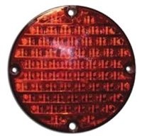 "7"" LED Red Warning Light w/Reduced Diodes"