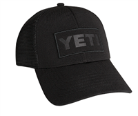 Yeti Black on Black patch hat