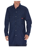 Dickies Fire Resistant Denim Snap Front Work Shirt