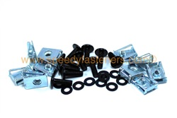 10x m5 clips & black aluminium pan head bolts