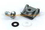 Silver Dzus Motorcycle Fairing Stud Kit