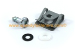 Silver Dzus Motorcycle Fairing Stud Clip Washer Kit