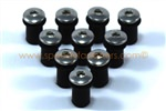 10x M5 5mm Rubber Well Nuts & Stainless Bolts for Screen / Fairing