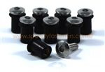 8x M5 5mm Rubber Well Nuts & Stainless Bolts for Screen / Fairing