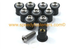 10x m6 6mm Well Nuts & Stainless Steel Bolts