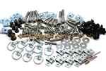 158 Piece Universal Race Track Pack Fairing Frame Bolts Fixings Dzus